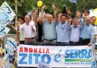 Ao lado de estrelas do PSDB, Serra faz campanha no RJ