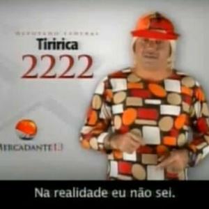 O cantor Tiririca durante o horário eleitoral