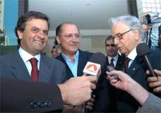 Aécio, Alckmin e Itamar reúnem-se em BH