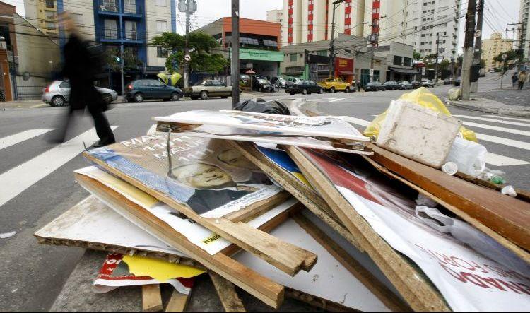 Lixo eleitoral em SP