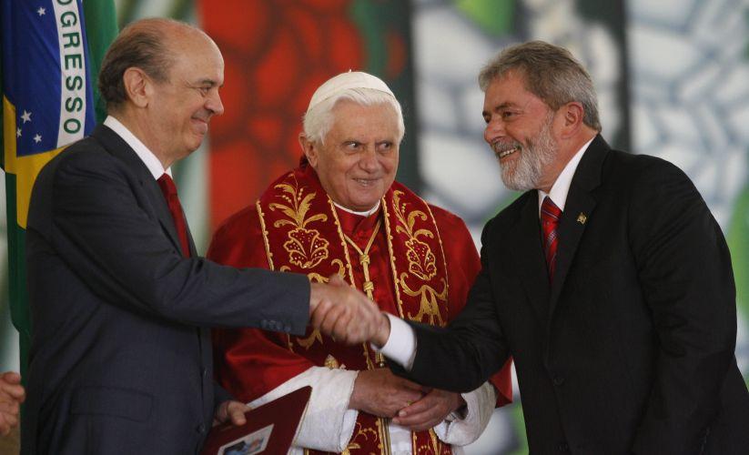 Com o Papa e Lula