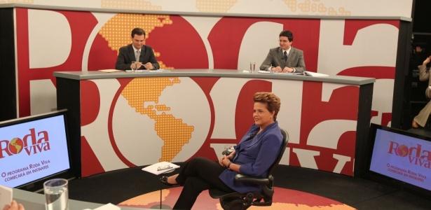 Candidata do PT à Presidência participa do programa 'Roda Viva', da TV Cultura