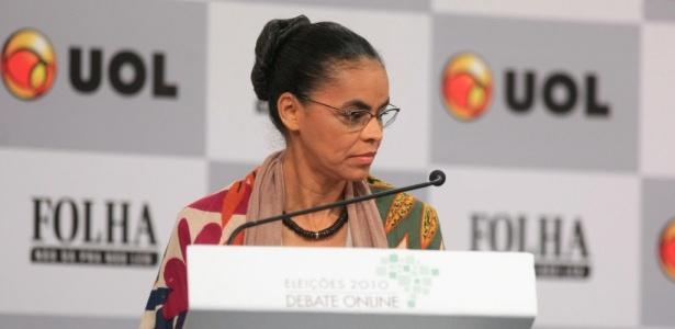 A candidata do PV à Presidência da República, Marina Silva