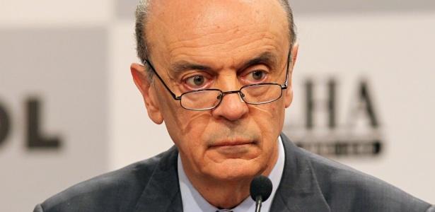 No segundo bloco, o tucano José Serra criticou o PT e o Enem