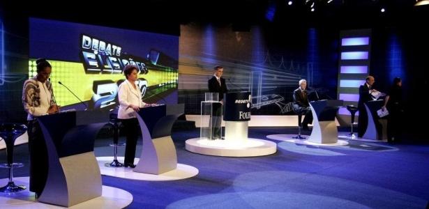 Candidatos à Presidência da República participam de debate Folha/RedeTV!