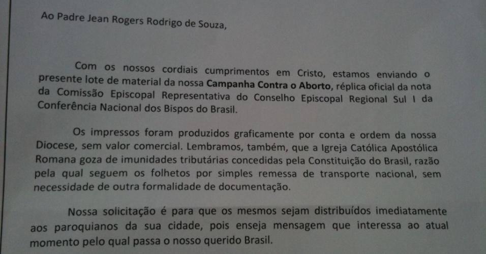 Gráfica imprime dois milhões de panfletos anti-Dilma a pedido de bispo