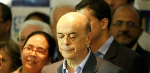 O candidato derrotado José Serra (PSDB) fala após divulgação de resultados